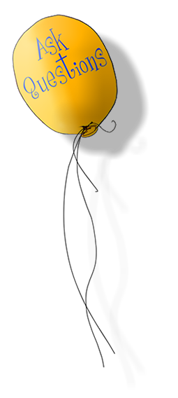 Yellow balloon floating upwards.